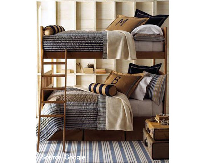 bunk beds shared room for boys