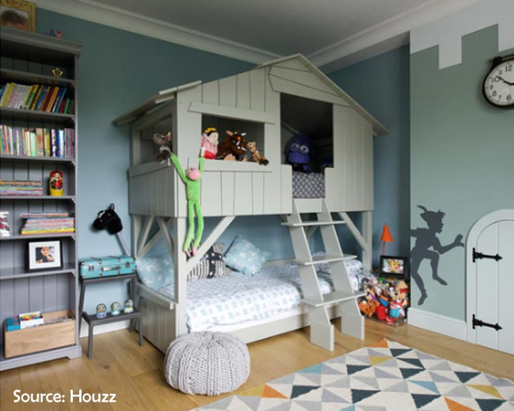 peter pan themed shared room for boys