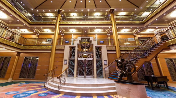 disney cruise ship entrance hall